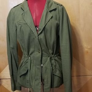Olive green military style jacket